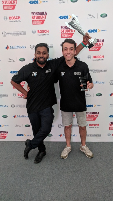 Afkar and Jason celebrating